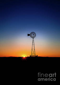 Windmill Sundown by Steven Reed
