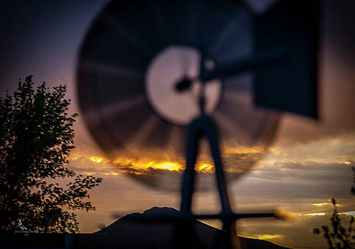 Windmill Sunset View by Julie Basile