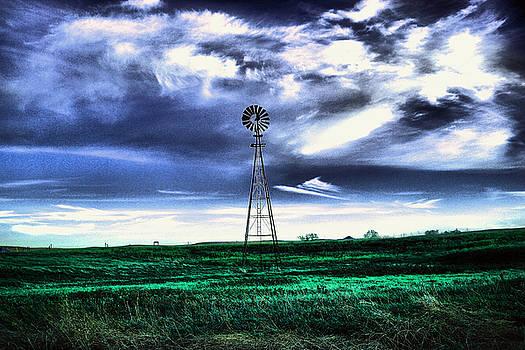Windmill under the Dakota Sky  by Jeff Swan