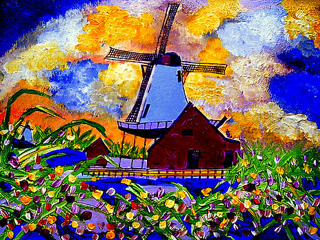 Windmills of Holland by Ted Hebbler