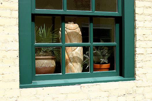 Window at Sanders Resturant by Steve Augustin
