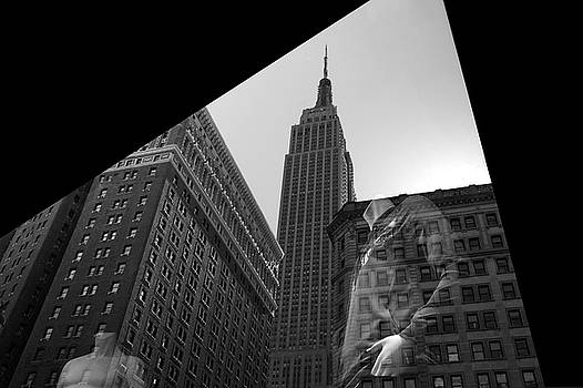 Window Reflection Empire State Biulding by Gregory Varano