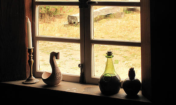 Window Sill Fort Ross by Larry Darnell