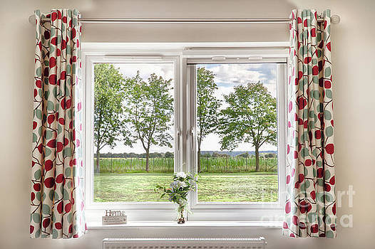 Window with a beautiful rural view by Simon Bratt Photography LRPS