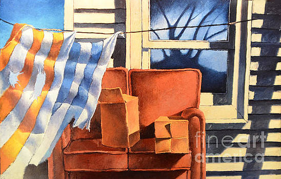 Christopher Shellhammer - Window with couch and towels