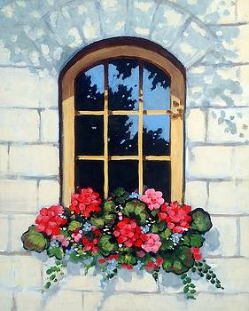 Joyce Geleynse - Window with Flower Box