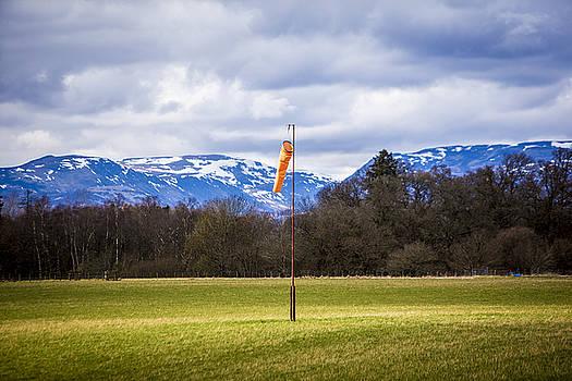 Windsock in field by Michael Schofield