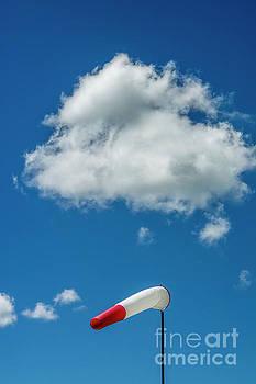 BERNARD JAUBERT - Windsock on a pole