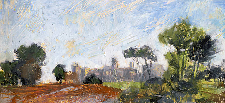 Martin Stankewitz - Windsor castle , oil pastel after William Turner