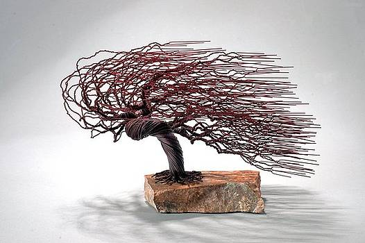 Windswept Wire Tree by Mark Golomb