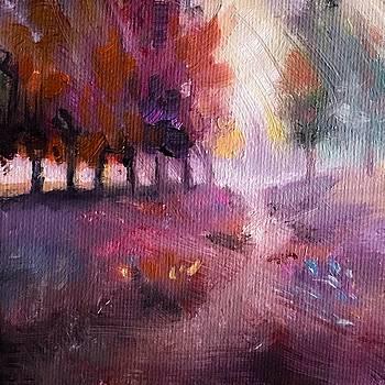 Windy Autumn Landscape by Michele Carter