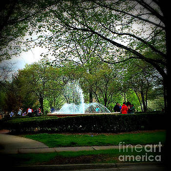 Frank J Casella - Windy Day at Irwin Fountain