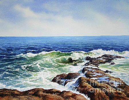 Windy day on the Ocean by Varvara Harmon
