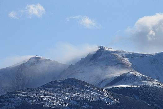 Windy Pikes Peak  by Christopher Kirby