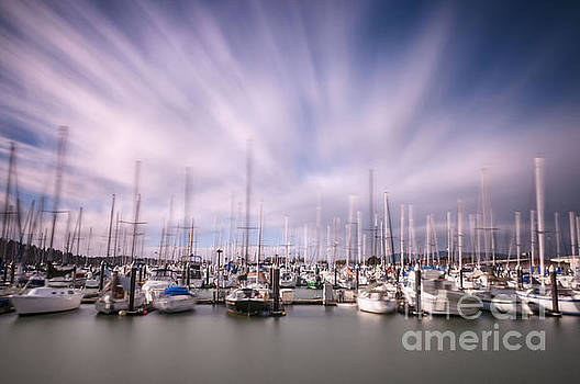 Windy Squalicum Harbor by Paul Conrad
