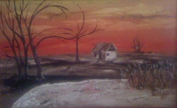 Windy sunset by Gyorgy Szilagyi