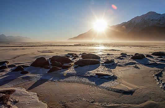 Windy Winter Sunset by Michele Cornelius