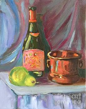 Wine and Fruit by Patsy Walton