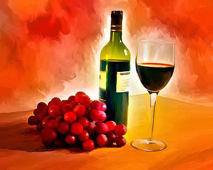 Wine and Grapes by Ata Alishahi