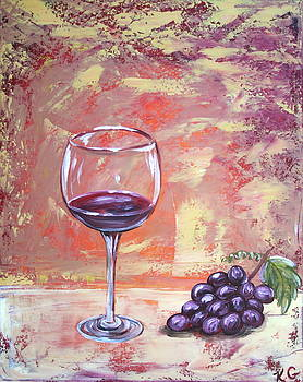 Wine and Grapes by Kristine Mueller Griffith