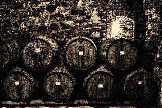 Wine Barrels by Laszlo Rekasi
