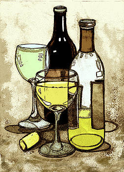Peggy Wilson - Wine Bottles and Glasses