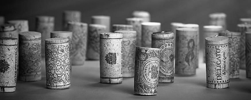 Tom Mc Nemar - Wine Cork Panorama in Black and White