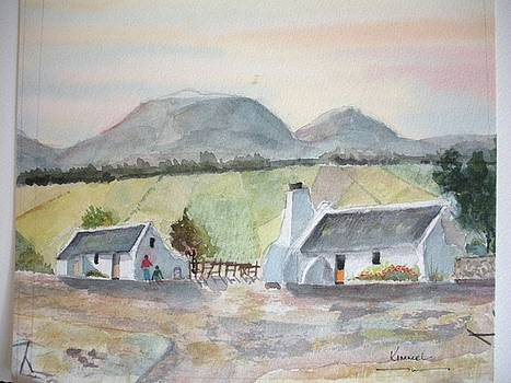 Wine Farm Worker's Cottages Western Cape South Africa by Harold Kimmel