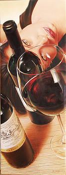 Wine Girls by Denis Eutikhiev