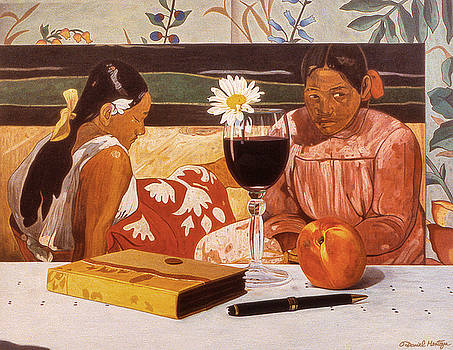 Wine Glass and Gauguin by Daniel Montoya