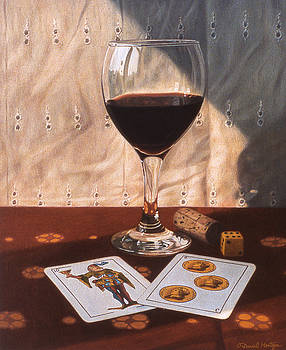 Wine Glass and Playing Cards by Daniel Montoya