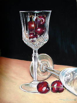 Wine glass by Usha P