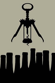 Tom Mc Nemar - Wine Graphic Silhouette
