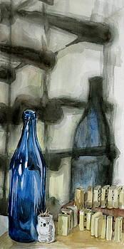 Wine Rack Shadows by Karen Boudreaux