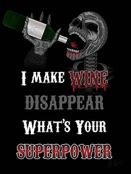 Wine Superpower Skeleton Fantasy Art by Raphael Lopez