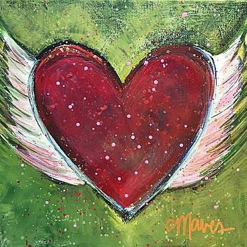 Winged Heart Number 1 by Laurie Maves ART