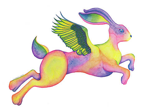 Winged Pixie Hare by Tara Warburton-Schwaber