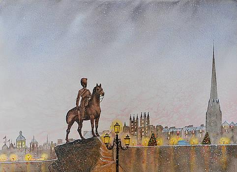 Winter in Edinburgh by Carolyn Judge