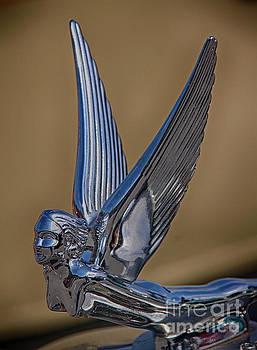 Wings Vintage Hood Ornament  by JW Hanley