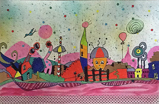 Winky Dink in Pinky Town by Linnie Greenberg