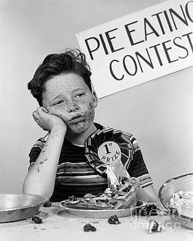 H Armstrong Roberts ClassicStock - Winner Of Pie-eating Contest, C.1950s