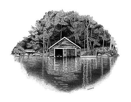 Winnipesaukee Boathouse by Scott Woyak
