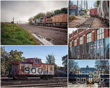 Winona Minnesota Trains Collage 8x10 by Kari Yearous