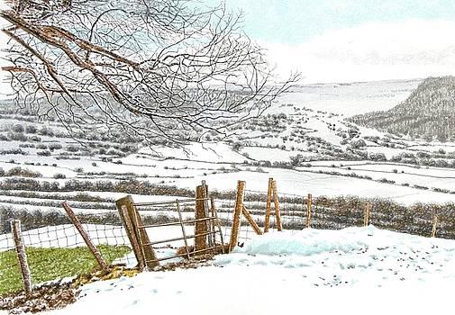 Winter above Llangollen by Alwyn Dempster Jones
