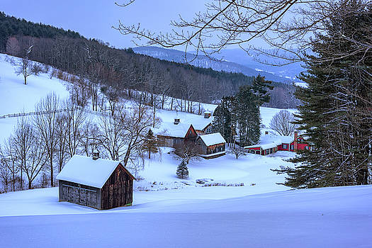 Winter Afternoon at Sleepy Hollow Farm by Rick Berk
