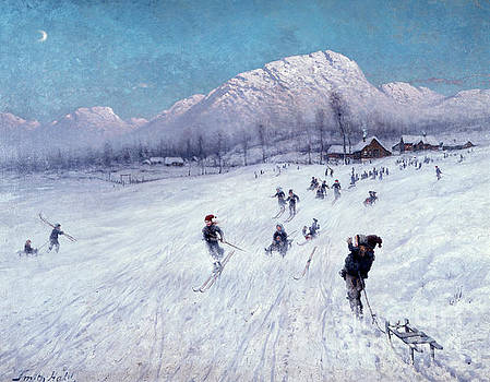 Winter afternoon under Ulriken by Frithjof Smith-Hald