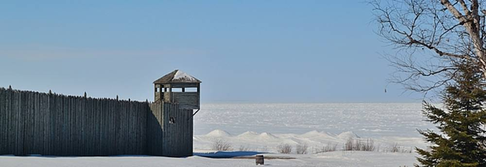 Winter at Fort Michilimackinac by Mikel Classen