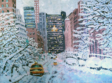 Winter at Grand Central by Lucille Femine