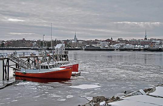 Winter at Newburyport Harbor by Wayne Marshall Chase