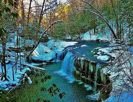 Winter at Princess Falls by Gary Edward Jennings